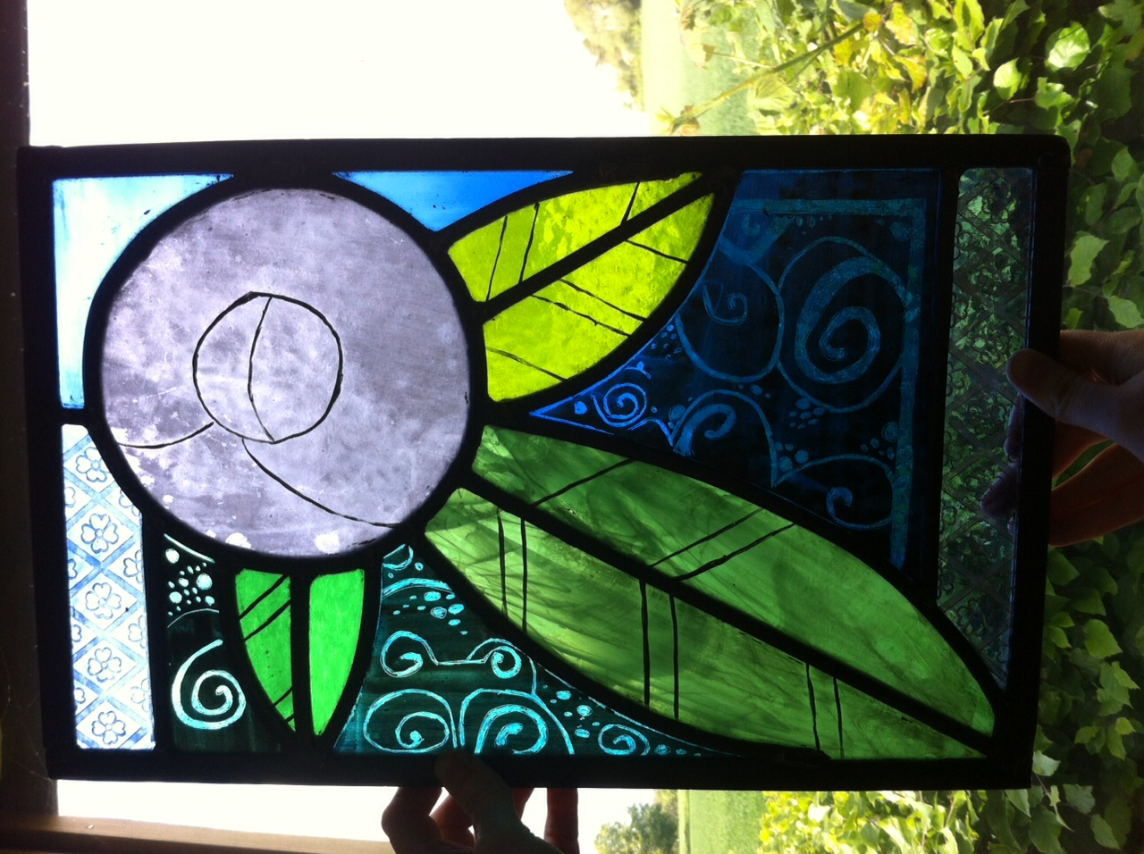 2 day course Stained Glass - student