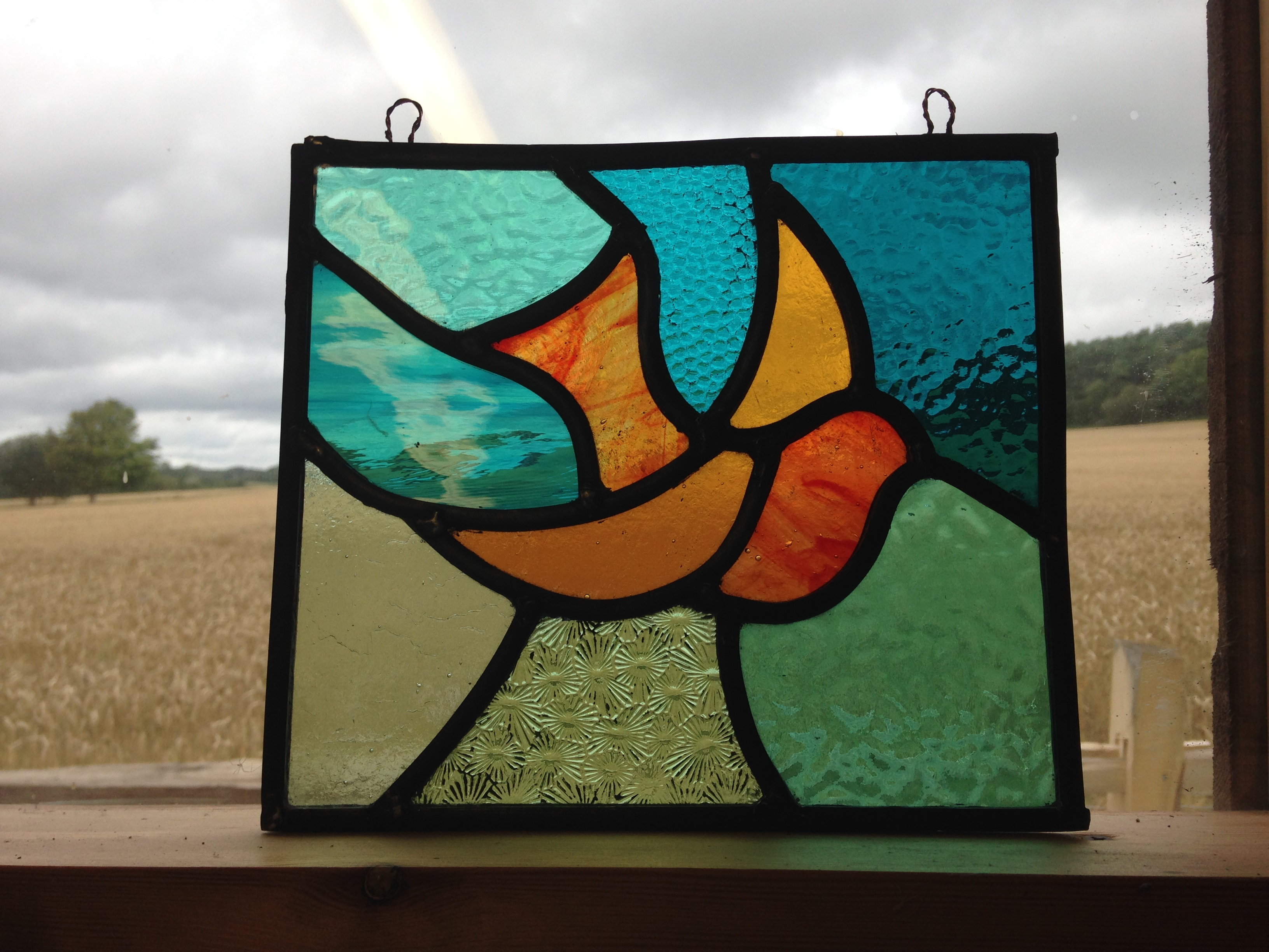 Stained Glass bird - student work