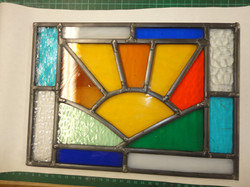 Stained Glass sunrise - student work