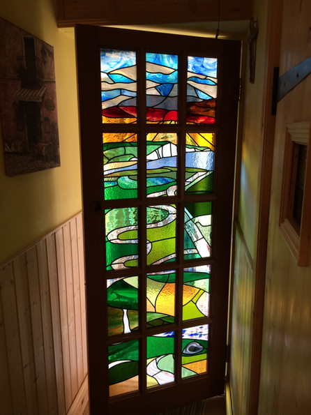 Kitchen commission - stained glass door