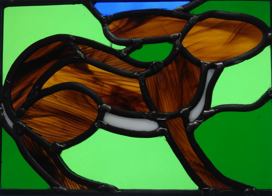 Stained Glass rabbit - student work