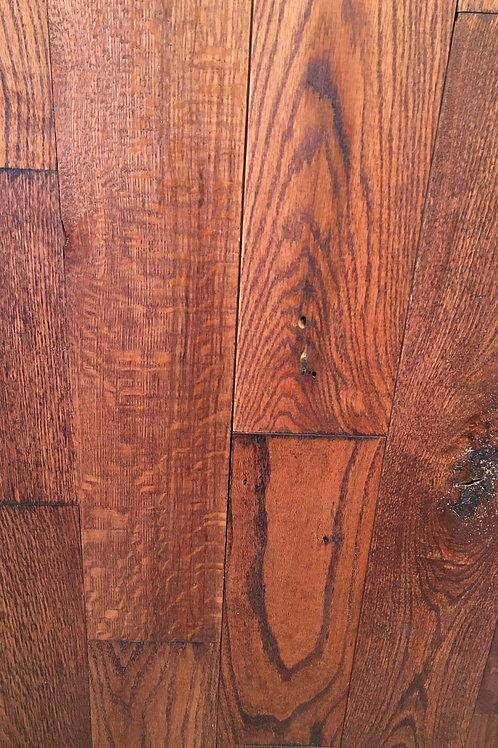 Wire Brushed Blackened Red Oak