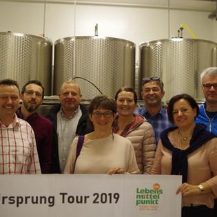 """Start der Ursprung Tour Mostheurigen """"zur steinernen Birne"""""""