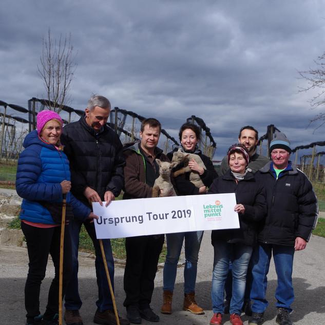 Start der Ursprung Tour beim Lehof in Strengberg