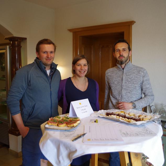 Gastgeber Helmut, Gabi und ich
