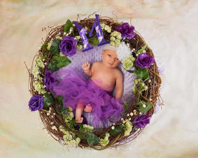 Stylized Newborn Portrait