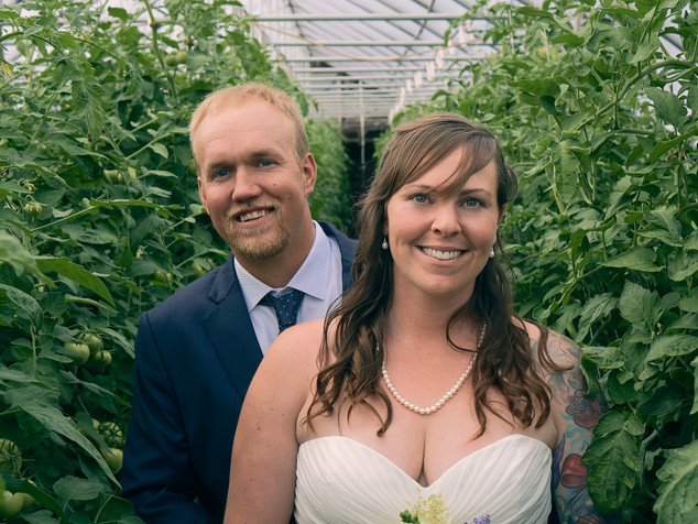 Greenhouse Wedding Portrait