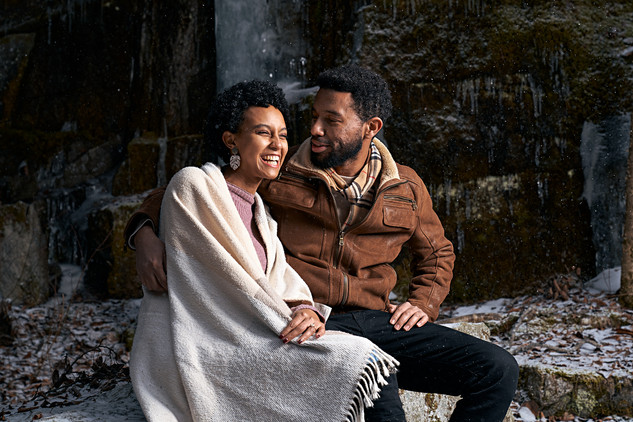 Winter Couples Portrait