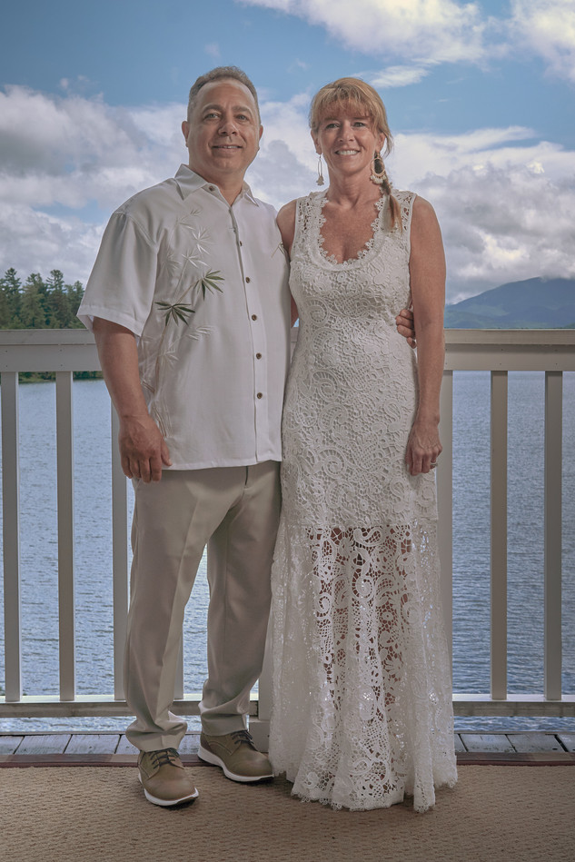 Lake Placid Wedding Portrait