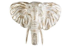 Elefanthuvud-Dekoration