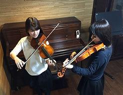 国立市バイオリン教室では無料体験レッスンで楽器をお貸ししています!30分程です