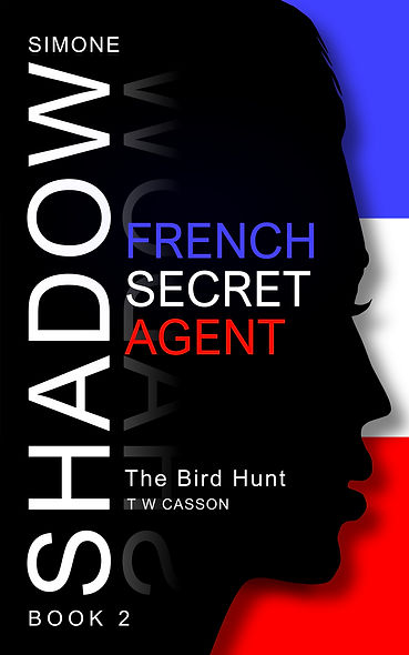 Front cover of Simone Shadow 'The Bird Hunt' Thriller Series