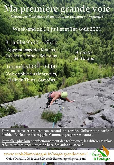 Stage grande voie d'escalade en Haute-Savoie