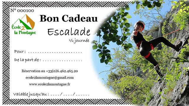 Bon Cadeau 1/2 journée d'initiation à l'escalade en falaise