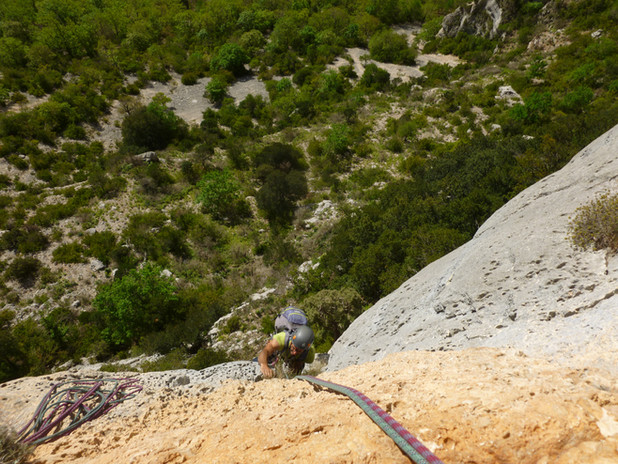 Grande voie d'escalade