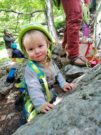 Baby escalade au Rocher Blanc
