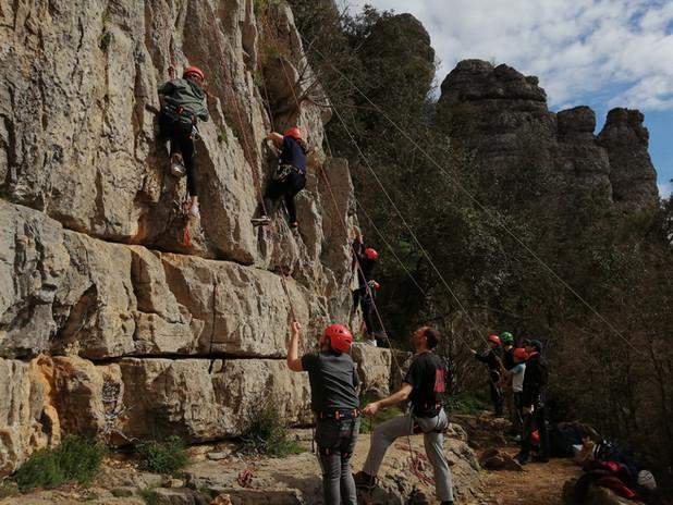 Escalade jeunes en Ardèche