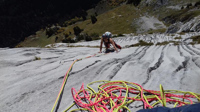 Grande voie d'escalade, la Pointe Drézat