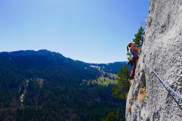 Grande voie aux roches blanches, en suisse