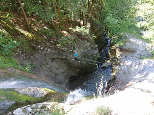Via ferrata de la Cascade des Nants à Bellevaux