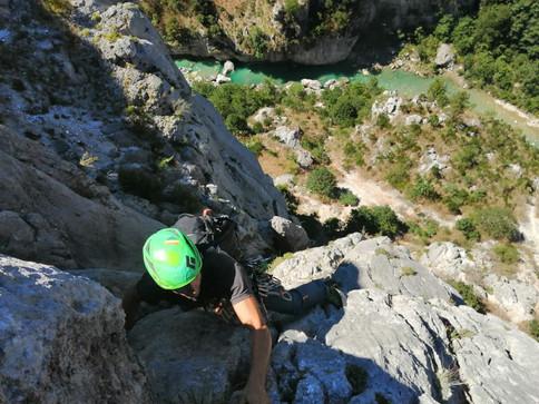 Initiation grande voie - Gorge du Verdon