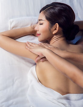 Asian lady relax with masage and spa in