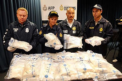 police with contraband