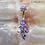 Thumbnail: Faceted Gem Curved Barbell with Triple Stone Dangles