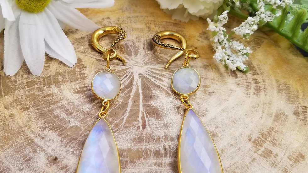 Faceted Moonstone Weights