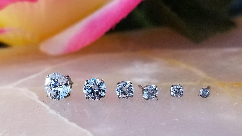 Implant Grade Titanium Faceted Threadless Gems