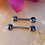 Thumbnail: Faceted Gem Straight Barbell