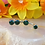 Thumbnail: Faceted Gem Curved Barbell with Double Stone Dangles
