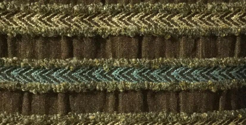 Brown & Blue Textured Stripe