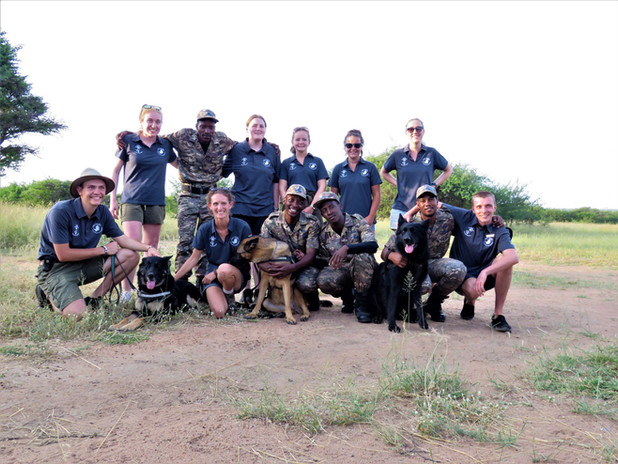 Anti Poaching Team With Volunteers