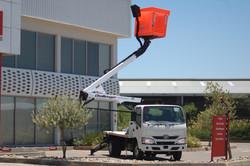 lifted aerial platform truck