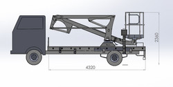 engineer drawing aerial platform