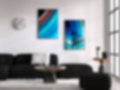 Wall Art Blue