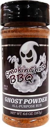SmokinGhost BBQ ALL PURPOSE (Former Steak and Brisket Rub/GHOST PO) 6.6oz bottle