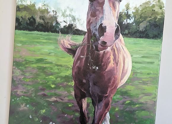 Original 'Quiet Lunch' Oil Painting