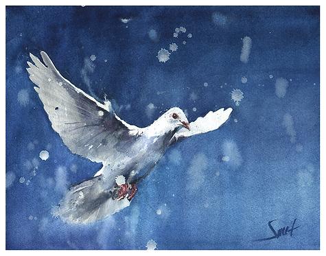 Dove Watercolor Print