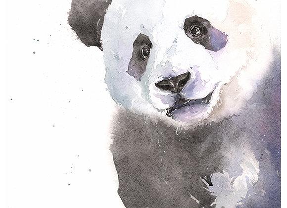 Panda Cub Watercolor Print