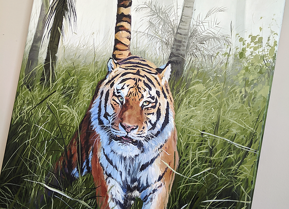 Original 'Paradise Prey' Oil Painting