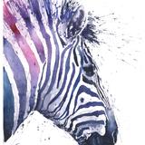 Zebra Watercolor, 16x20, 2015