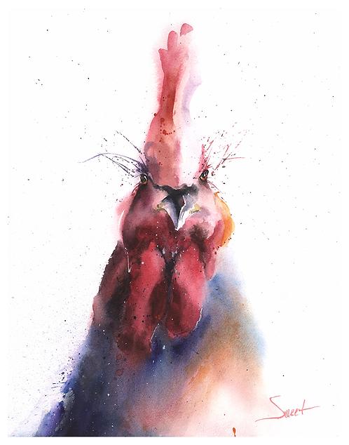 Chicken Watercolor Print