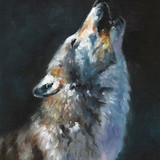 Howling Wolf, 12x16, 2015