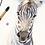 Thumbnail: Zebra Colt Watercolor Print