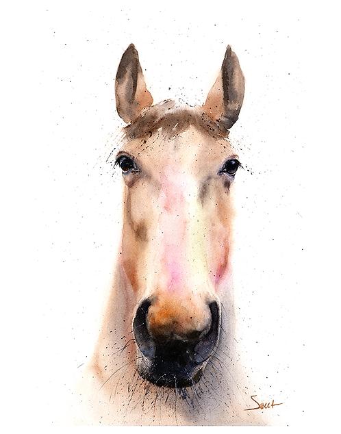 Horse Watercolor Print