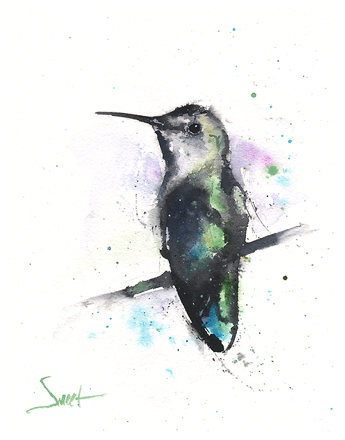 Anna's Hummingbird Original Watercolor Painting