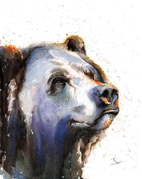Brown Bear Watercolor Print