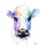 Cow Watercolor, 16x20, 2015